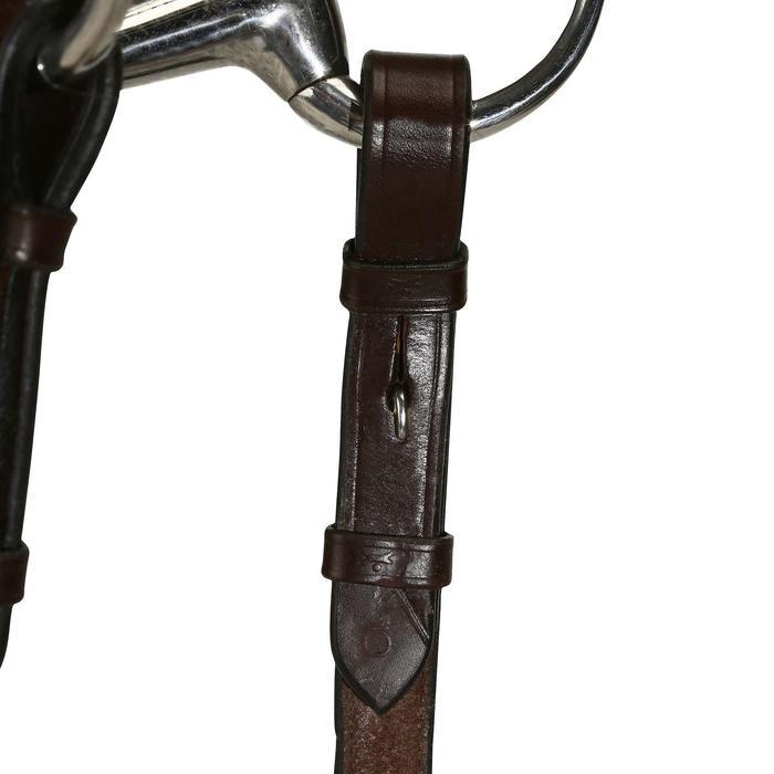 Filet + rênes équitation cheval et poney TINCKLE marron - 821791