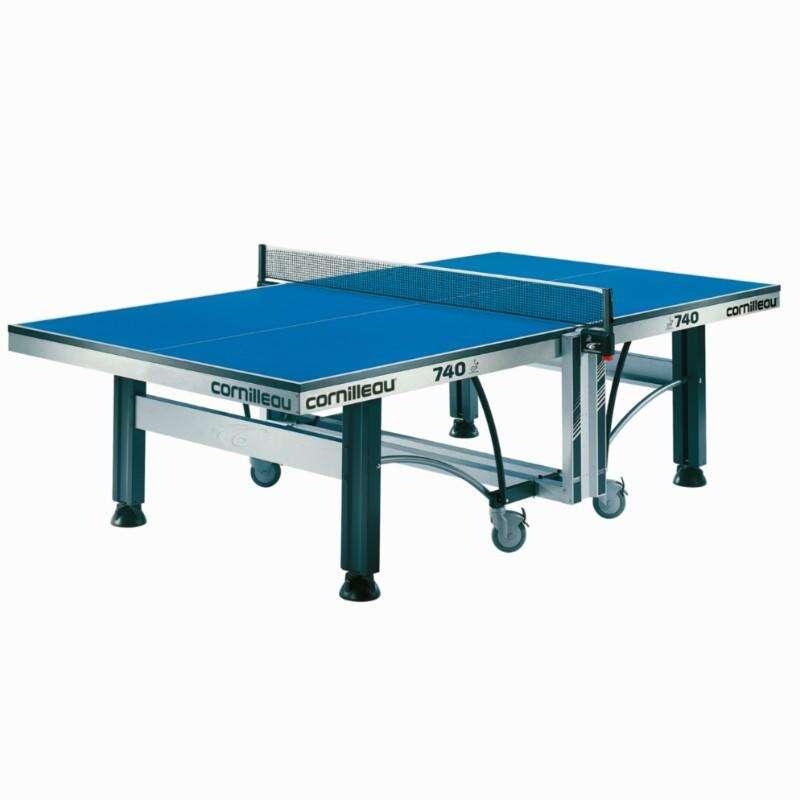STOŁY INDOOR Tenis stołowy - STÓŁ 740 INDOOR ITTF CORNILLEAU - Stoły i akcesoria do tenisa stołowego BLUE