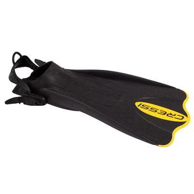 Palmes de snorkeling Palau SAF noires et jaunes