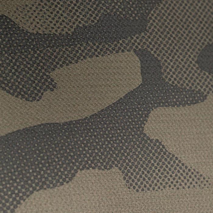 Jagd-T-Shirt atmungsaktiv 100 Camouflage kaki
