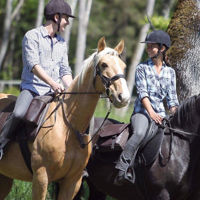 Longe équitation randonnée SENTIER marron - 822770