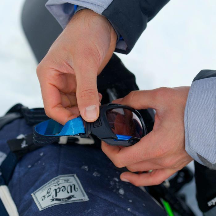 Lunettes de randonnée adulte MH 910 noires/bleues verres interchangeables cat4+2 - 822799