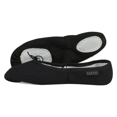 Girls' ballet split-sole demi-pointe shoes - black