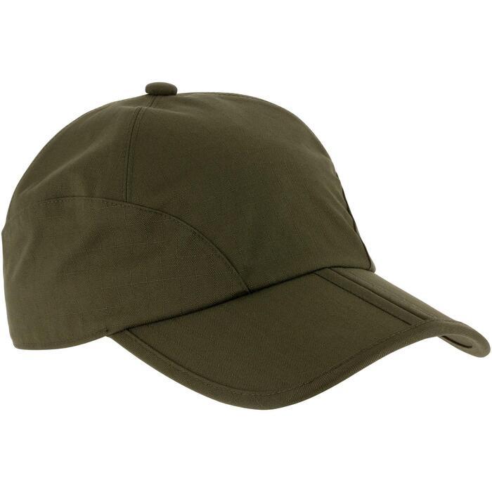 Gorra de caza impermeable plegable verde