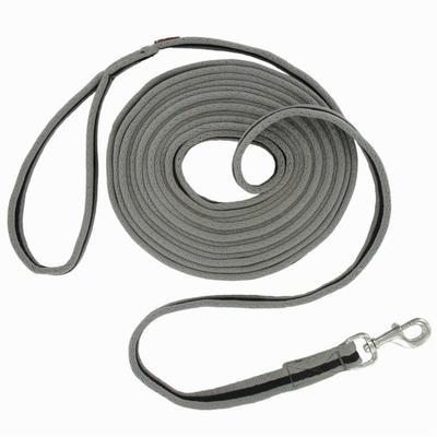 حبل لونج ناعم للأحصنة - رمادي/ أسود