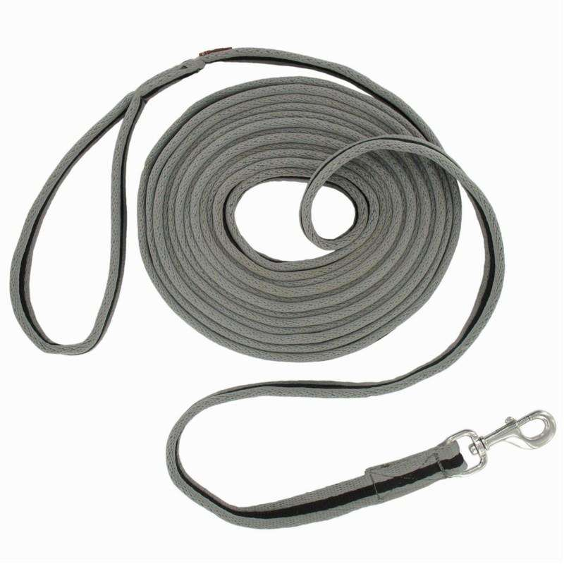HORSE TRAINING/LUNGING SYSTEMS & LUNGE Horse Riding - Soft Work Leadrope - Grey FOUGANZA - Saddlery and Tack