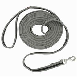 Longeerlijn ruitersport Soft grijs en zwart
