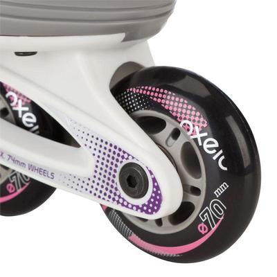 Roller fitness enfant FIT 3 JUNIOR blanc violet