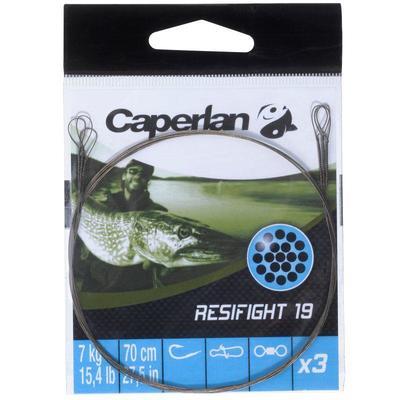 Повідець Resifight Rigid для ловлі хижої риби, з 2 петлями, 19 на 7 кг