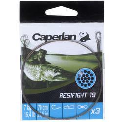 Avançon pêche carnassier RESIFIGHT 19 2 BOUCLES 11KG