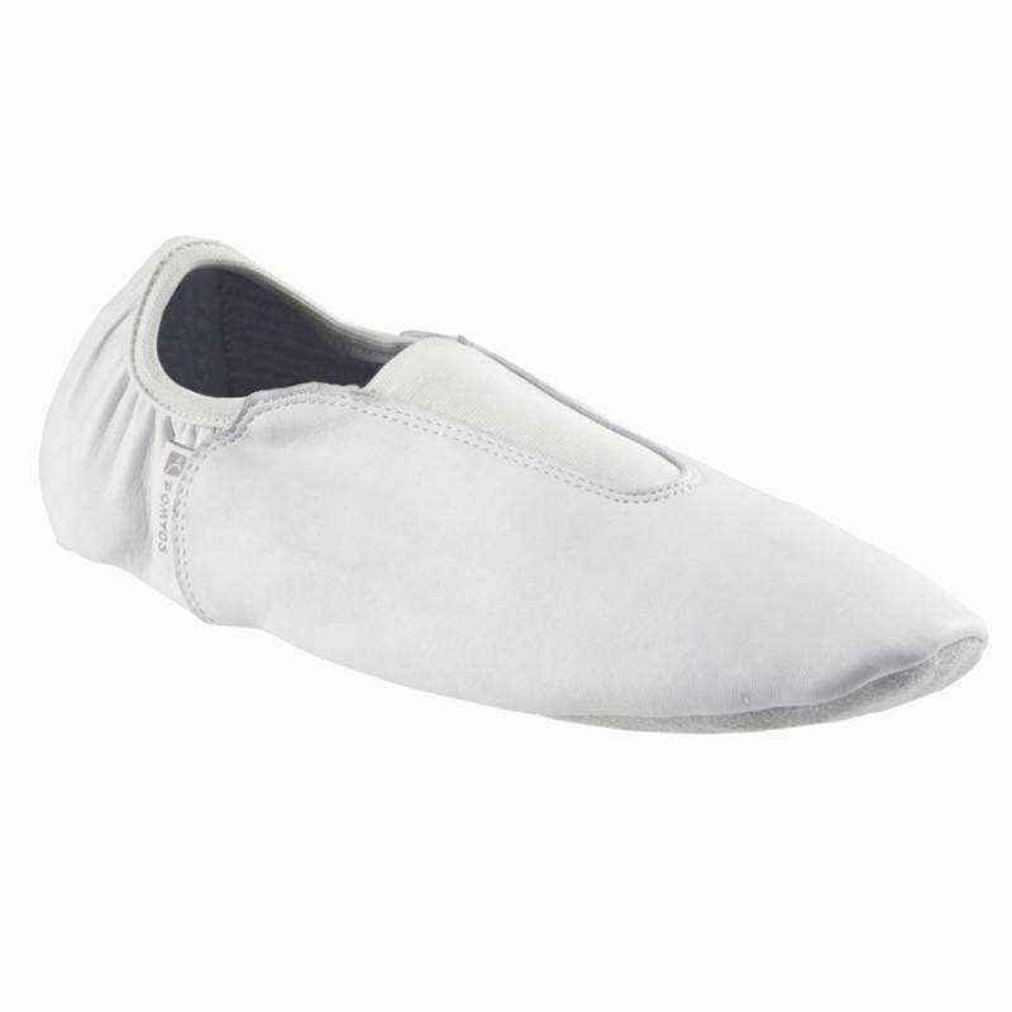 ARTISTIC GYMNASTICS SHOES - Leather Rhythmic Adult Gym Shoes - White DOMYOS
