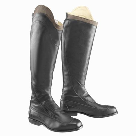 Victory Women's Horse Riding Leather Boots Calf Size M - Black