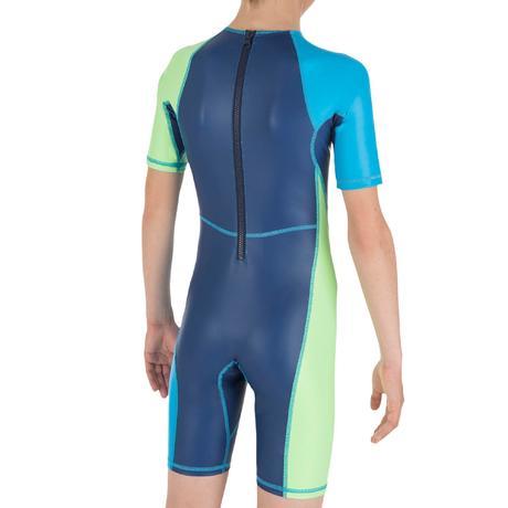 Shorty Kloupi Boys Swimwear Blue Blue Green Nabaiji