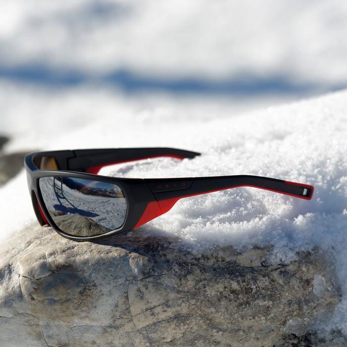 Sonnenbrille MH570 Pola polarisierend Kategorie4 Erwachsene schwarz/rot