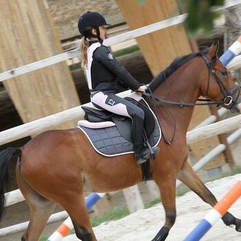 Veste équitation enfant SAFY noir - 824417