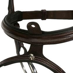 Hoofdstel + teugels Tinckle ruitersport bruin - pony en paard - 824593