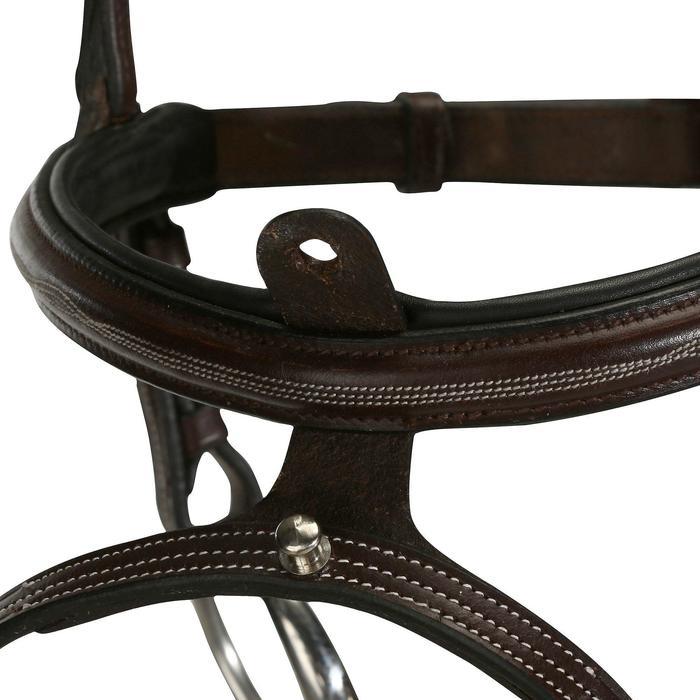 Filet + rênes équitation cheval et poney TINCKLE marron - 824593