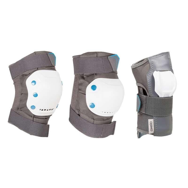 Детская защита Самокаты - Набор защиты 3 FIT 5 серый OXELO - Самокаты