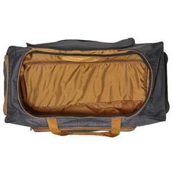Trolleytas ruitersportmateriaal gemêleerd grijs/camel 80 liter - 825078