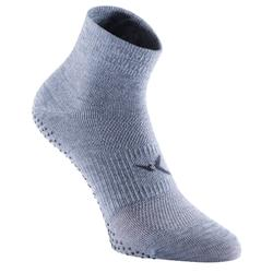 Chaussettes antidérapantes Gym Stretching & Pilates gris