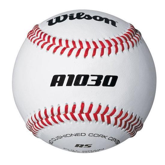Honkbal bal leer A1030 wit - 825243