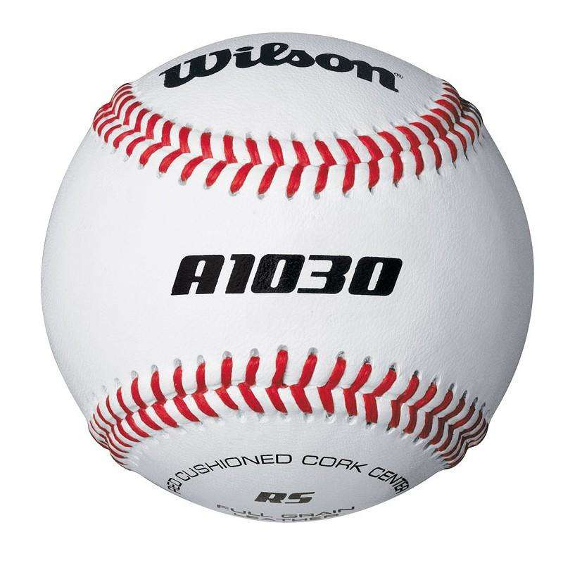 ЕКИПИРОВКА ЗА БЕЙЗБОЛ Бейзбол - БЕЙЗБОЛНА ТОПКА A1030, КОЖА WILSON - Бейзбол