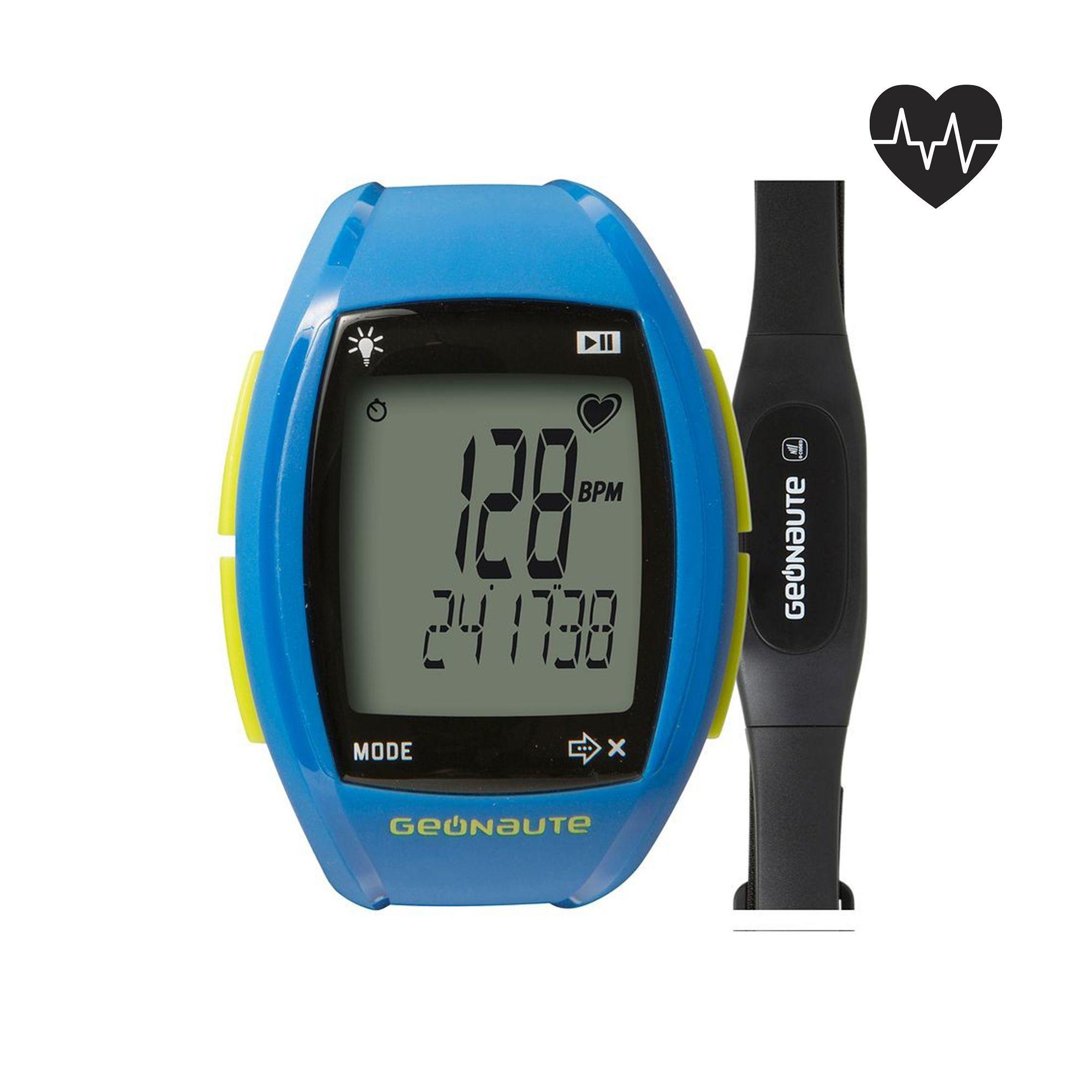 Reloj cardiofrecuencímetro y cinturón codificado ONrhythm 310 access azul
