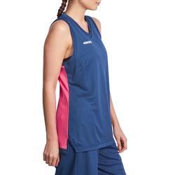 Basketbalshirt B500 mouwloos dames - 825560