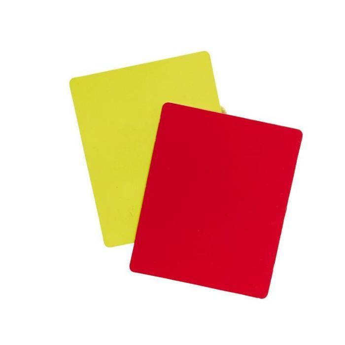 Jeu de cartons arbitre jaune rouge - 825675