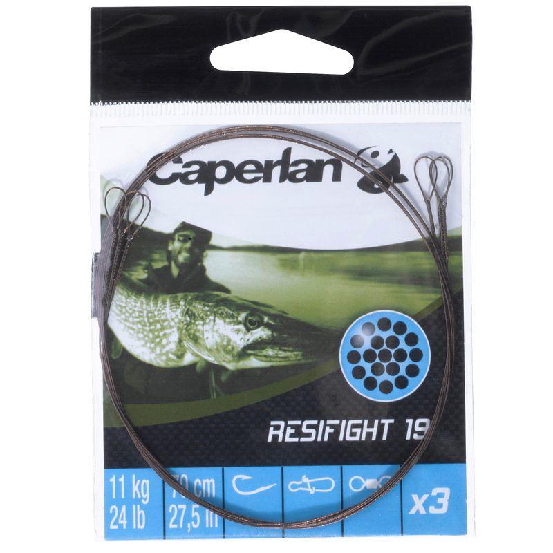 Avançon pêche carnassier RESIFIGHT 19 2 BOUCLES 11 KG