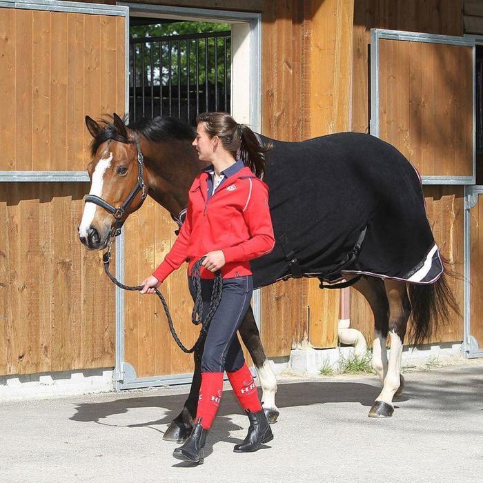 Chemise écurie équitation poney et cheval POLAR 800 noir / gris - 826471