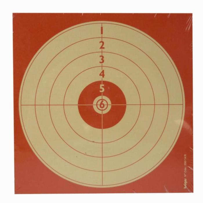 Schietschijf voor recreatief schieten met luchtdrukgeweer 14 x 14