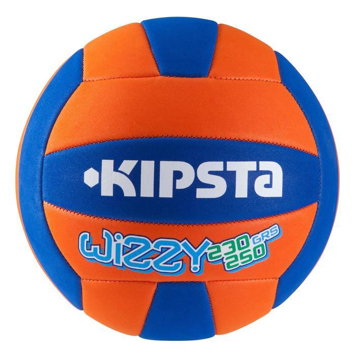 Ballon de volley-ball Wizzy 260-280g blanc et bleu à partir de 15 ans - 826607