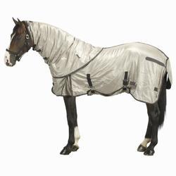 Manta ligera antimosca de equitación para poni y caballo beige