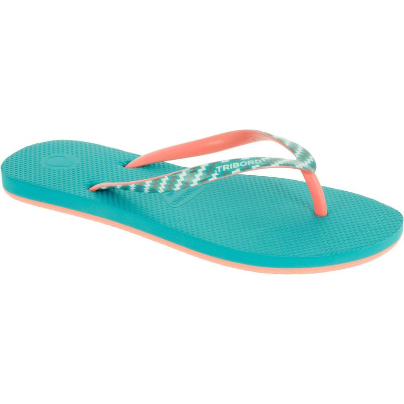 TO 500S Print Women's Flip-Flops - Pineapple Blue