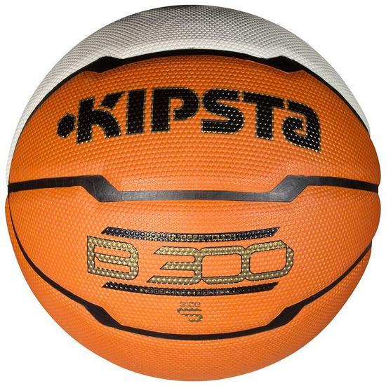 Basketbal kinderen B300 maat 5 oranje/wit - 827290