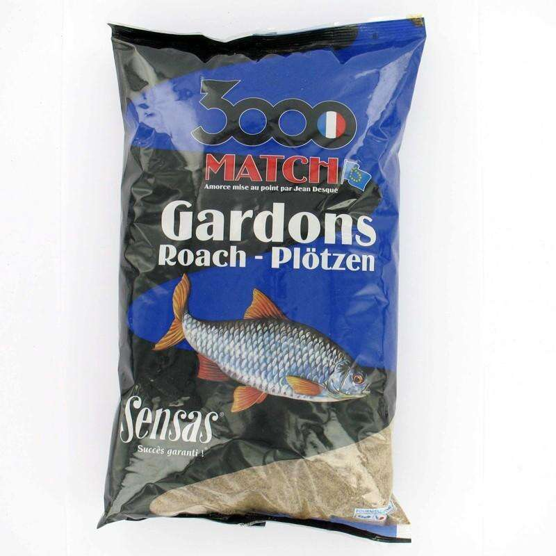 FEEDER, METHOD, MATCH GROUNDBAITS, BAITS Fishing - 3000 MATCH ROACH 2 KG SENSAS - Fishing