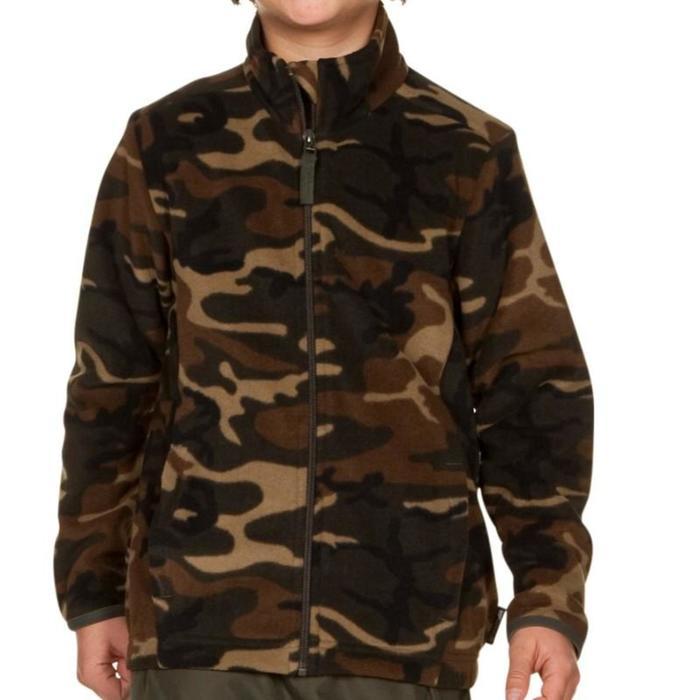 Camouflage fleece voor de jacht kinderen groen