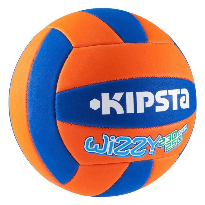 Ballon de volley-ball Wizzy 260-280g blanc et bleu à partir de 15 ans - 827476