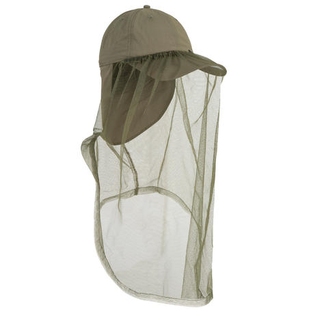 Casquette anti-moustique chasse Steppe 300 mosquito vert