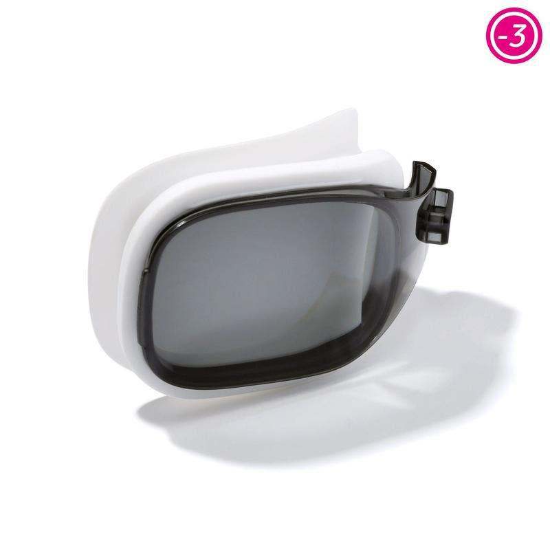 LENS FOR CORRECTIVE SWIMMING GOGGLES SELFIT SMOKED SIZE L / -3.00
