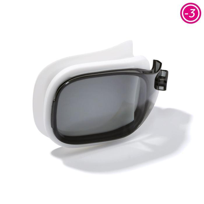 Brillenglas Stärke -3 für Schwimmbrille 500 Selfit Größe S getönt