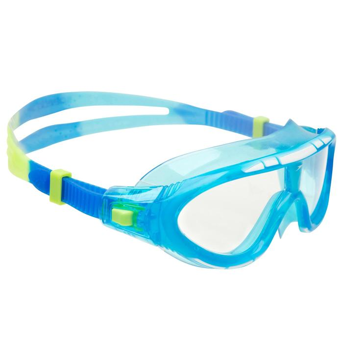 Masque de natation junior Speedo Rift Taille S bleu vert