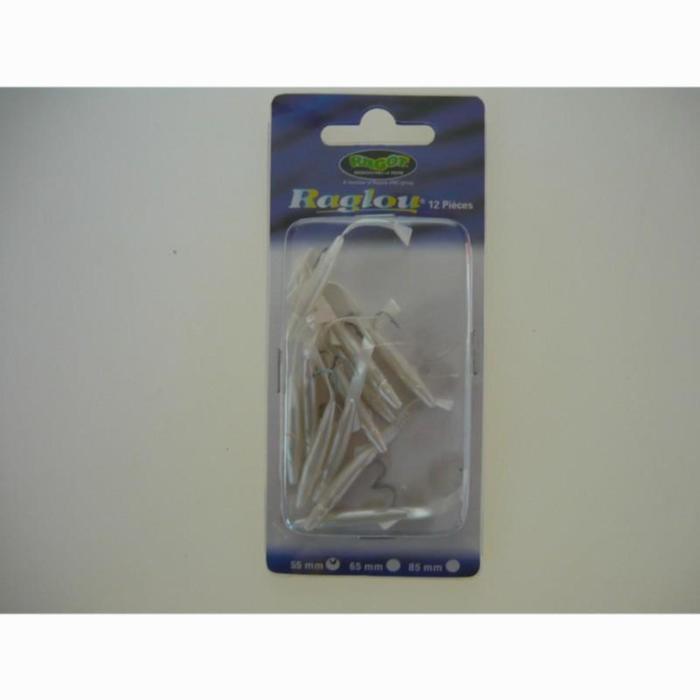 Softbaits voor zeevissen Raglou 5,5 cm parelmoer x12