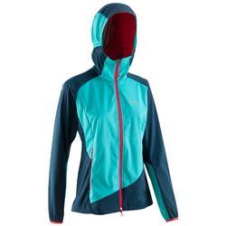 女士登山輕型軟質外套 - 海藍色