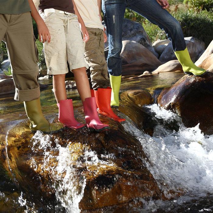 Botas de agua Inverness 100 mujer verde anís