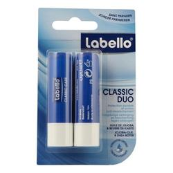 Bálsamo lápiz de labios Labello Classic Duo