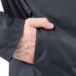 Chaqueta impermeable de fútbol adulto T500 negro