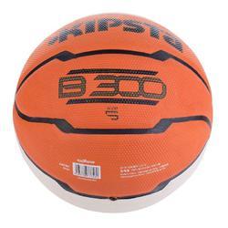 Basketbal kinderen B300 maat 5 oranje/wit - 829560