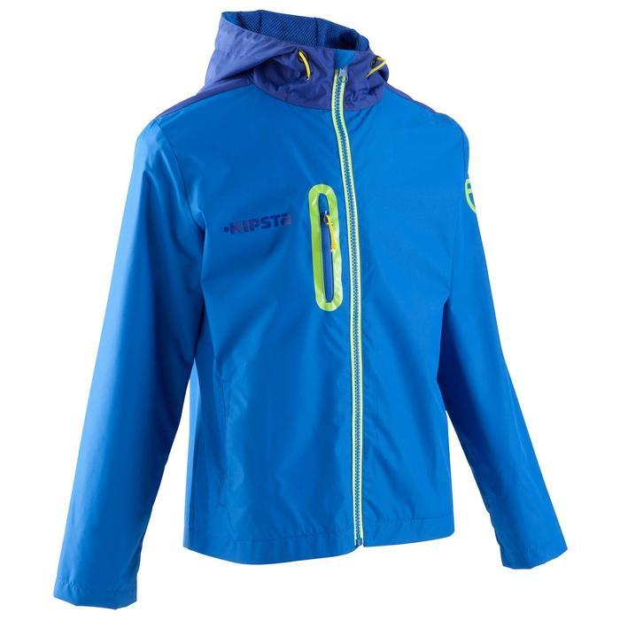 Veste imperméable de football enfant T500 bleu - 829568